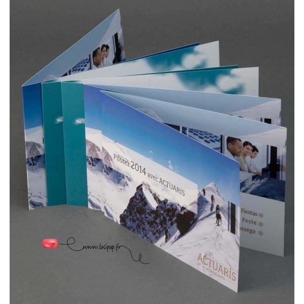 Impression cartes de v ux pli es 2 ou 3 volets sur mesure Impression carte de voeux