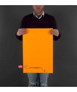 IMPRESSION AFFICHE ORANGE FLUO