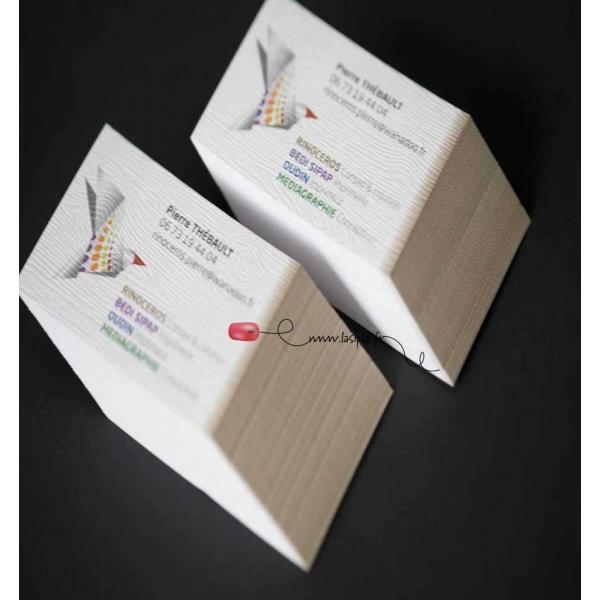 Cartes De Visites Papier Couche Brillant