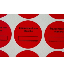Lot de 90 pastilles rouges équipement non étanche